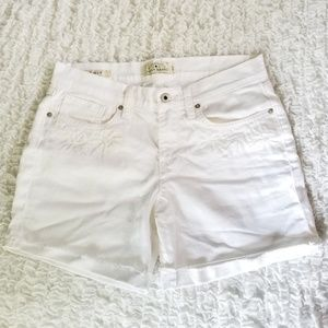 Lucky embroidered white denim shorts sz 4 / 27